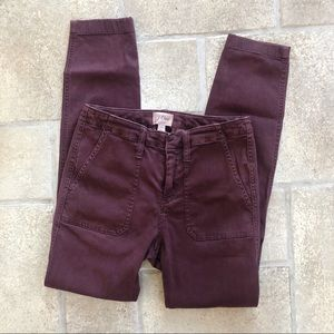 J Crew Maroon Skinny Pants